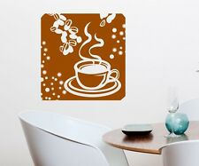 Wall Decal coffee beans cup kitchen Tattoo Sticker Mural Decal 5Q669