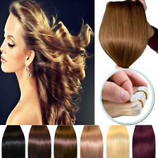 Deluxe 20/40pcs Tape in 100% Remy Human Hair Extensions Virgin Skin Weft AU