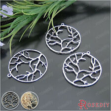 20PCS 40MM Alloy Round Tree Charms Pendants Jewelry Findings Accessories 20732