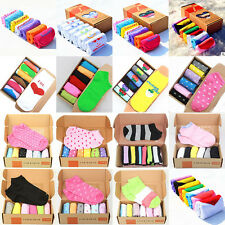 7 Pairs Women Fashion Color Casual Dress Socks Cotton Ankle Week Crew Socks