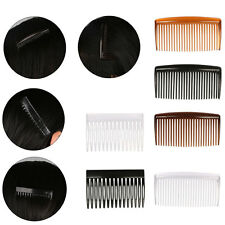 2Pcs Hair Combs Clips Side Ladies Girls Hairdresses Plastic Clear/Coffee/Black