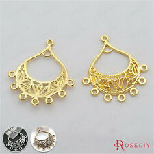 20PCS 34*30MM Alloy Earring Connector Charms Jewelry Findings Accessories 28474