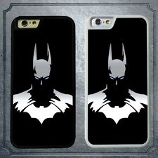 Cool Rubber Phone Back Case Cover For iPhone 6 6s Plus Superhero Black Batman