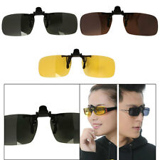 Polarized Clip-on Lens Sunglasses Day Night Vision UV400 Driving Glasses Durable