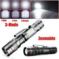 Ultrafire CREE Q5 LED 2000 Lumen Clip Zoomable Flashlight Torch Penlight Torch