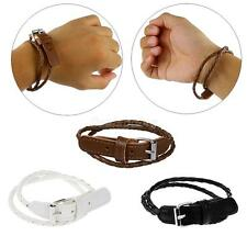 Punk Fashion Hand Cuff Multi-layer Leather Bracelet Wristband Bangle in 3 color