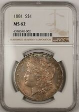 1881 $1 Morgan Silver Dollar Coin NGC MS-62 Toned (13)