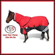 LOVE MY HORSE 1200D 300g 5'6 6'0 Detachable Neck Winter Turnout Rug Red