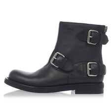 GUCCI Woman Hammered Leather MIRO'SOFT Ankle Boots Made in Italy