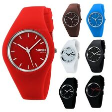 Super Soft Jelly Silicone  Sport Quartz Wrist Watch Waterproof Casual Style