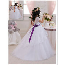 Girl Party dress Wedding dress Flower girl Dress ivory gift present Halloween