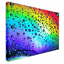 Water drops on the rainbow Canvas Wall Art prints high quality