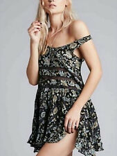 Free People Black Voile Lace Floral Paisley Trapeze Slip Dress XS S NWT Sold Out