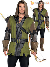 Adults Robin Hood Costume Mens Prince of Thieves Fancy Dress Medieval Outfit