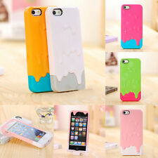 3D Melt Ice Cream For Apple iPhone 4S 5S Designed Hard Snap On Back Case Cover