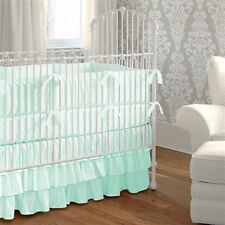 Crib Bedding Set Fitted Pillowcase Three Tier Skirt Bumper Comforter- 5PC Set