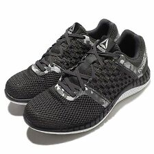 Reebok ZPrint Run Camo GP Black White Womens Running Shoes Trainers AR2758