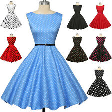 Plus Size Vintage Swing 1950's 60's Housewife Dress Retro Pinup Cocktail Evening
