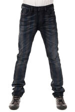 DIESEL New Men Black Denim THAVAR Striped Cotton Jeans Pants NWT