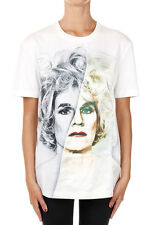 CHRISTOPHER MAKOS PORTS New Woman White face Printed Tee T-shirt NWT