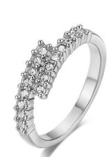 18K White Gold Plated Genuine Swarovski Element Crystals  Ring(R778-38)