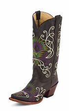 Tony Lama Womens Espresso Tucson Leather Vaquero 13in Western Boots
