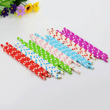 25Pcs Heart Fun Party Drinking Paper Straws Birthday Wedding Romance 7Colors POP