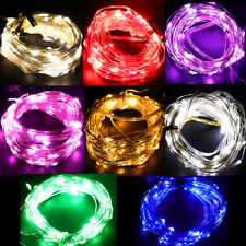 AA Battery 2M 3M 5M 10M 100 led String Christmas Holiday Wedding Fairy Lights