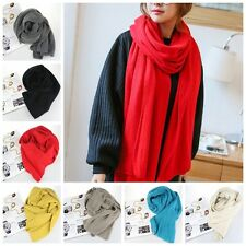Fashion Women Winter Warm Soft Wool Blend Scarf Knit Long Scarf Wrap Shawl