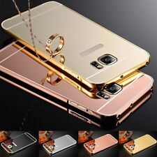 Aluminum Metal Mirror Case +PC Back Cover Skin For Samsung Galaxy Note 2 N7100