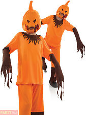 Childs Scary Pumpkin Costume Boys Horror Halloween Fancy Dress Kids Outfit