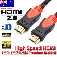 1m 1.5m 3m 5m HDMI Cable V1.4 3D High Speed w/ Ethernet HEC 4K Full Ultra HD