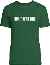 Big Texas Dont Read This (White) Mens Fine Jersey T-Shirt