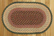 OVAL AND ROUND JUTE RUGS & RUNNERS By EARTH RUGS-BURGUNDY/GRAY/CREME. MANY SIZES
