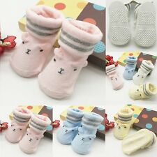 Newborn Infant Toddler Baby Boys Girls Cartoon Cotton Socks Slipper Shoes Boots