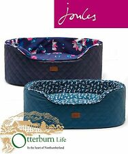 JOULES SLUMBER OVAL QUILTED PET BED NAVY BLOOM OR PINE DOG (V) TRACKED DELIVERY