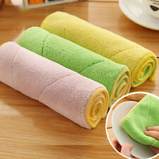 New Kitchen Dish Cloths Microfiber Double-sided Wash Towel Cleaning Cloths 10*6""