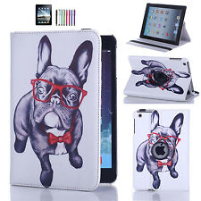 Leather 360 Rotating Case Stand Cover For APPLE iPad w/ Screen Protector &Stylus