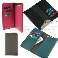 Universal Synthetic Leather Wallet Card Holder Purse Pouch Case For Sony
