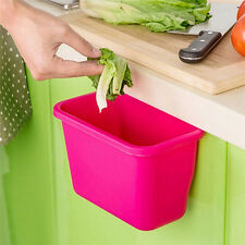 Creative Doors Hang Trash Baskets Desktop Box Garbage Kitchen Cabinet Storage SP