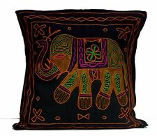 A Ethnic Traditional Elephant Embroidered Work UK Pillow Cushion Cover
