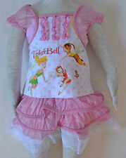 New Girls TinkerBell Top and Dress Set Pink Size 1,2,3,4,5,6