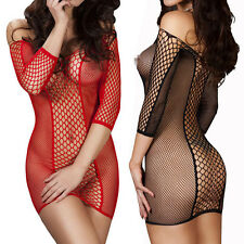 Women's Hot Sexy Lingerie Nightwear Underwear Babydoll Sleepwear Fishnet Dress