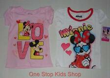MINNIE MOUSE Toddler Girls 2T 3T 4T Short Sleeve SHIRT Tee Top MICKEY Disney
