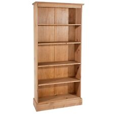 Cotswold Solid Pine Living & Bedroom Range - Bookcases with Adjustable Shelves