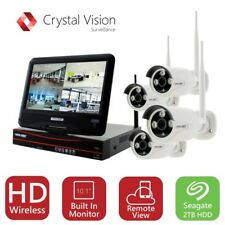 Crystal Vision All-in-One HD 4CH Wireless Complete Kit w/ Auto Pair Technology