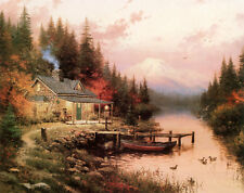 The End of a Perfect Day Thomas Kinkade 9x12 Canvas NEW Giclee Bronze Frame