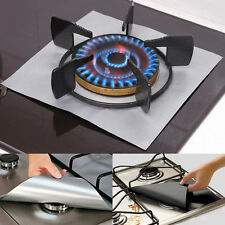 4pcs Reusable Non-stick Gas Stove Burner Covers Pad Oven Lining Protection Cover