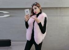 100% Real Fox Fur Vest Gilet Waistcoat Coat Jacket Fashion ladys Coat Nice New