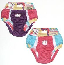 New OP Infant Girls Reusable SWIM DIAPER Pink or Purple Colorblock Size 6M 12M